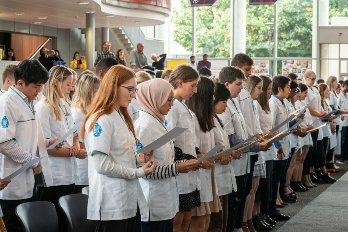 P2 Students in White Coat